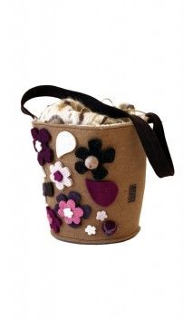 #bags #borse #handmade #artigianali #felt #feltro #vaso flowerpot #fiore #flower Vaso di fiori / Flower bowl