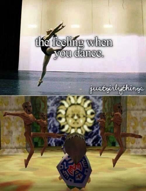 Dancers and MM Legend of Zelda players will understand :)  Gibdos do better fouettes than I do lol :)