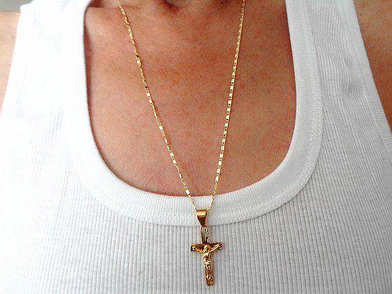 Jewelry for Men//Women Cross /& Skull Glitzs Jewels Stainless Steel Pendant for Necklace