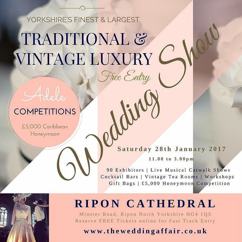 THIS Saturday @riponcathedral #Wedding Show 11-3pm Free