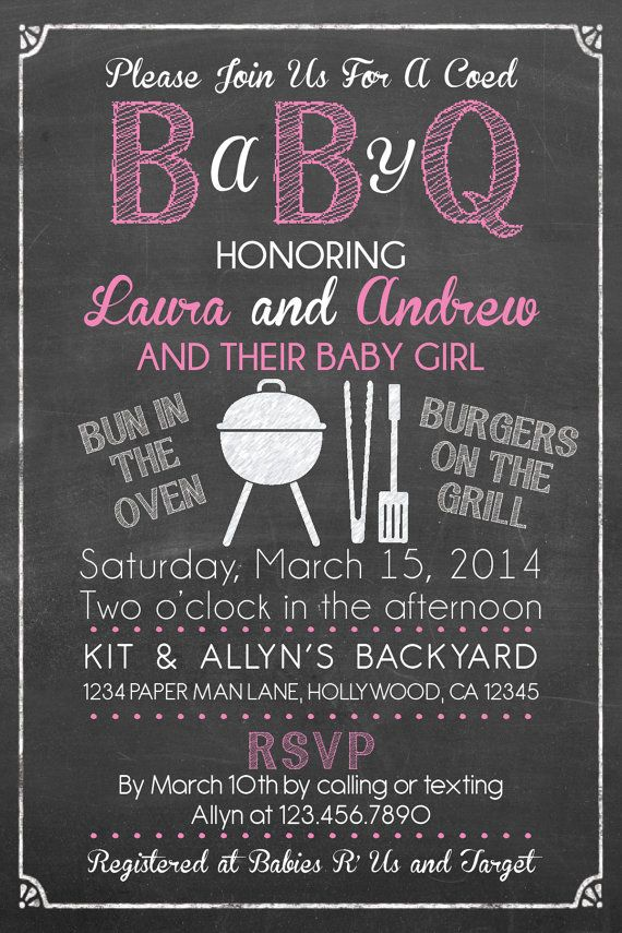 Baby Q Shower Invitation - BBQ Baby Shower- BABYQ- Barbecue baby ...