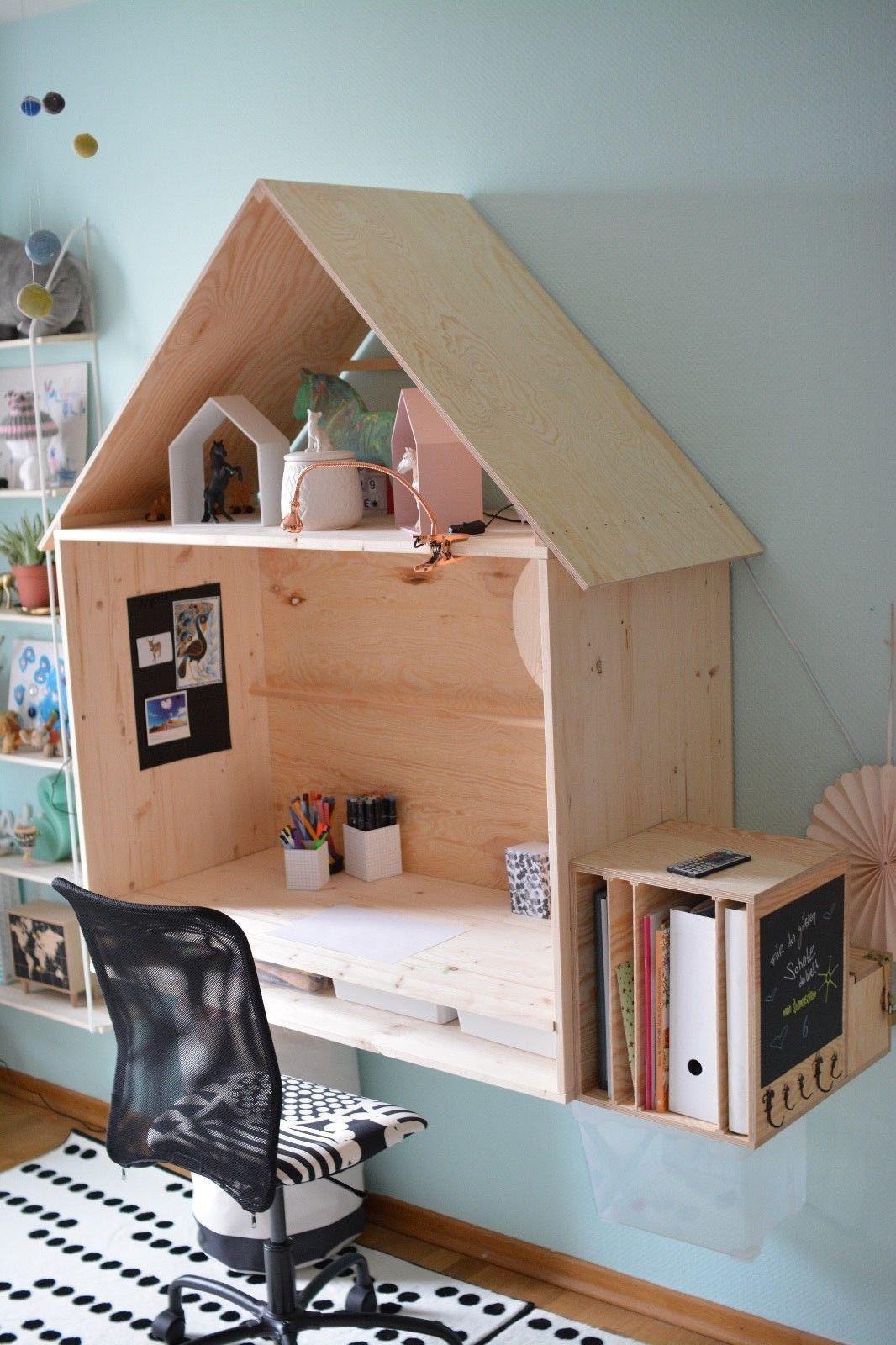 schreibtisch haus kinder holz dach einzigartig tisch platte h ngend licht led ebay. Black Bedroom Furniture Sets. Home Design Ideas