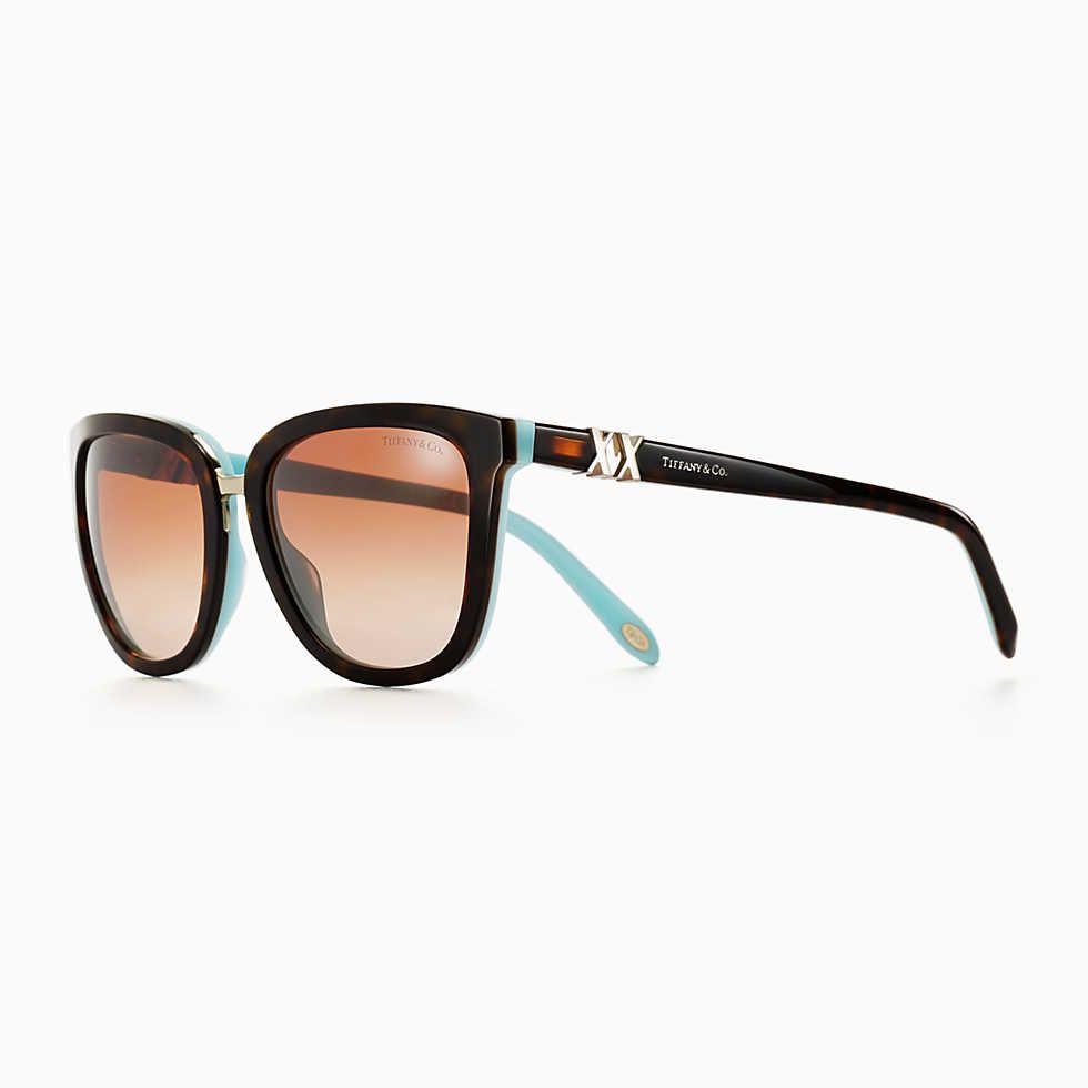 475ed86bc711 Tiffany Aria concerto square sunglasses in tortoise and Tiffany Blue  acetate.