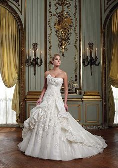 Simple Taffeta Ball Gown Sleeveless Strapless Chapel Train Wedding Gowns - Lunadress.co.uk