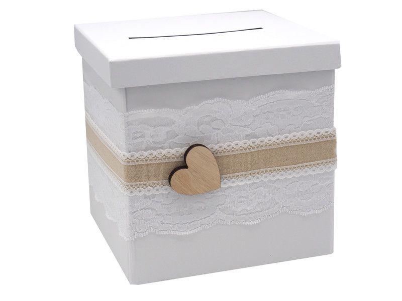 Hochzeitsdeko Briefbox Geldgeschenke Box Hochzeit Spitze Natur