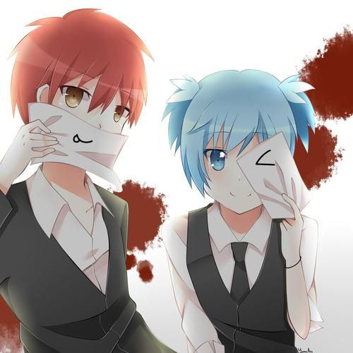 Cuties They Should Have Made Nagisa A Girl So My Ship Can Actually Sail Da Karma Akabane Nagisa Shiota Carnage Pair Anime Minh Họa Manga Dễ Thương