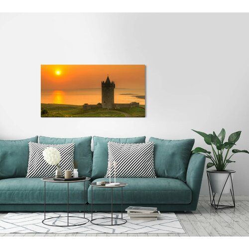 'Landscape with Tower' Photograph on Wrapped Canvas East Urban Home