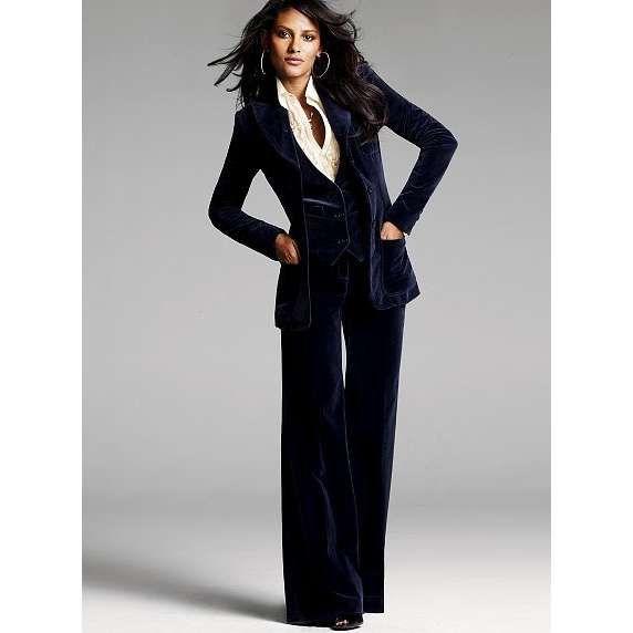 3 Piece Velvet Suit My Style Pinterest Suits Suits For Women