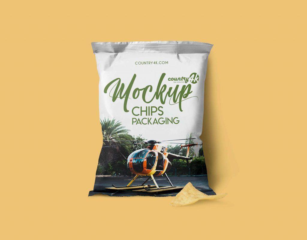 Snack Packaging Packet Mockup Free Package Mockups Packaging Template Chip Packaging Packaging