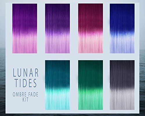 Amazon.com : Lunar Tides Hair Dye - Blue DIY Ombre Hair Dye Kit : Beauty