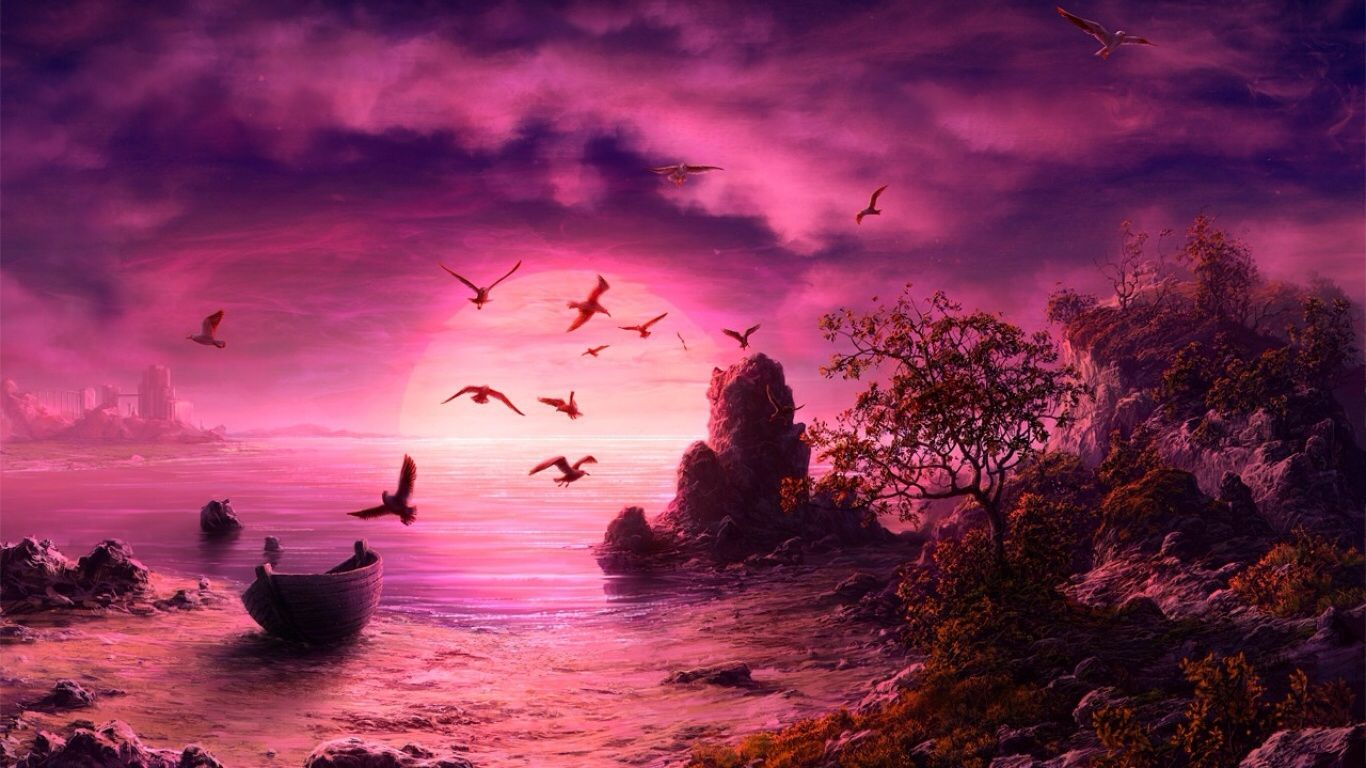 Pin by Fiona Shaw on Sunset Skies Fantasy landscape