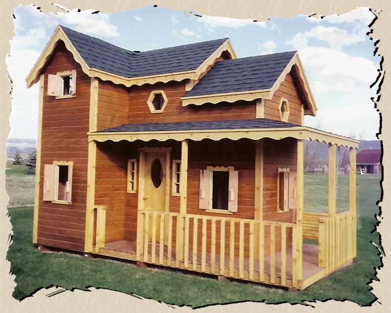 Country cottage kits diy playhouses plans kids for Kids playhouse ideas