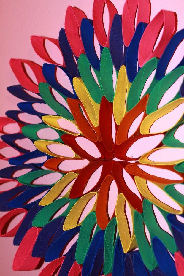 Diy Rainbow Flower Toilet Paper Roll Craft Jam Blog Toilet Paper Roll Art Paper Roll Crafts Toilet Paper Roll Crafts