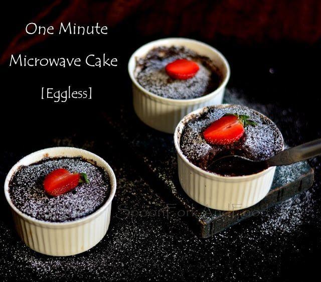 1 minute eggless chocolate mug cake - microwave | Recipe ...