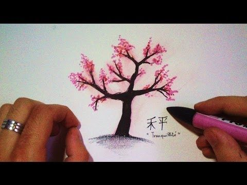 How To Draw A Japanese Cherry Tree Time Lapse Cherry Blossom Drawing Tree Drawing Tree Pencil Sketch