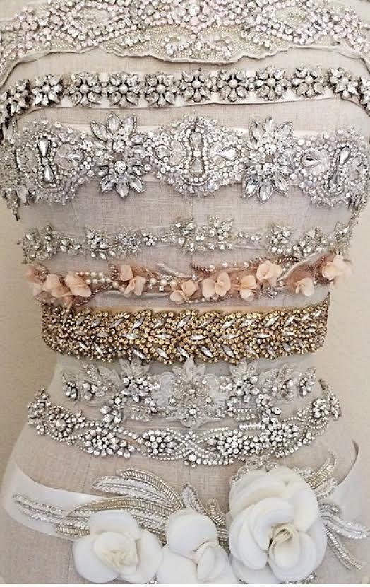 Gold Leaves Art Deco Belt - IVY - In Gold or Silver | bij ...
