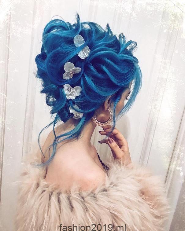 Más de 30 impresionantes peinados de boda de color, # impresionante # color # pelo #h …