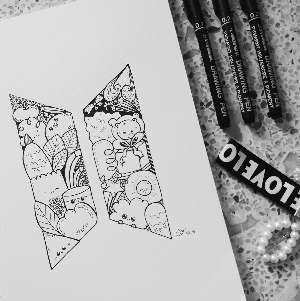 Pin By Forever Young On Bts In 2020 With Images Doodle Art