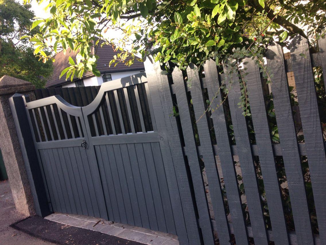 garden gates painted using valspar garden paint in evening. Black Bedroom Furniture Sets. Home Design Ideas