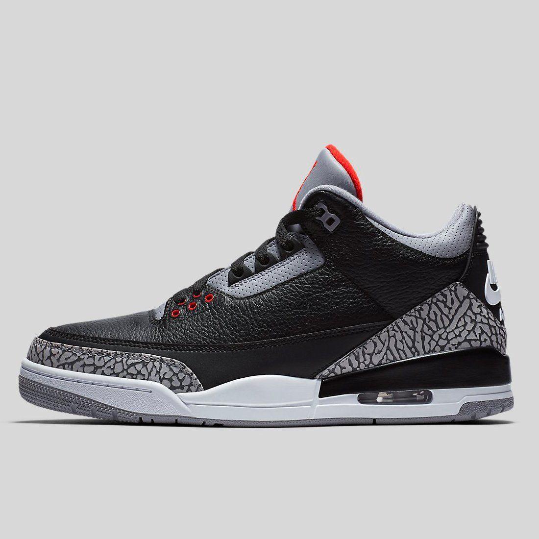Nike Air Jordan 3 Retro Og Black Cement 2018 Air Jordans Retro Air Jordans Nike Air Jordan Retro