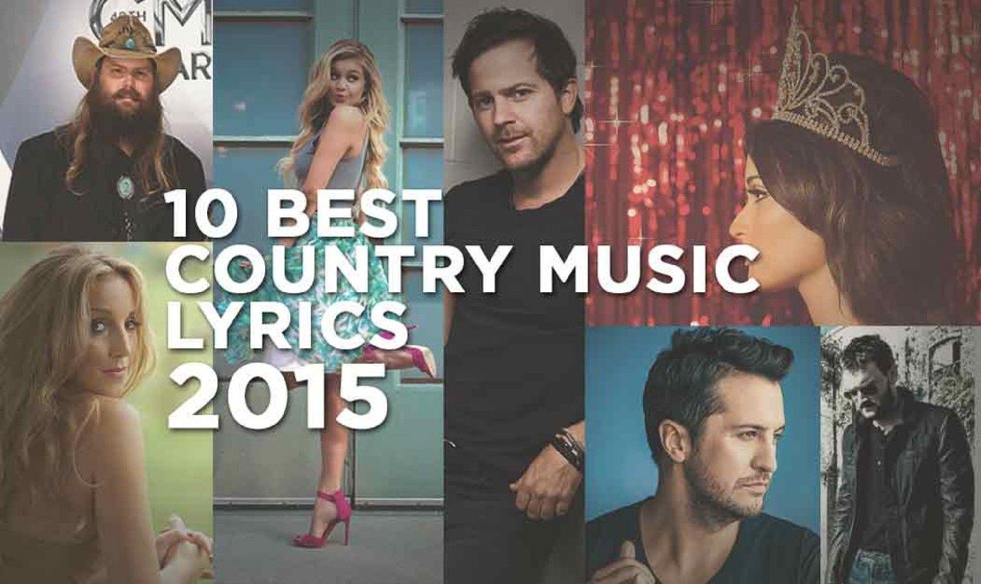 The year's best country music lyrics.