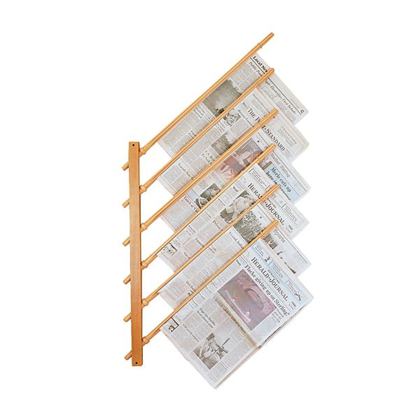 Wall Mount Newspaper Holder With Sticks Newspaper Holder