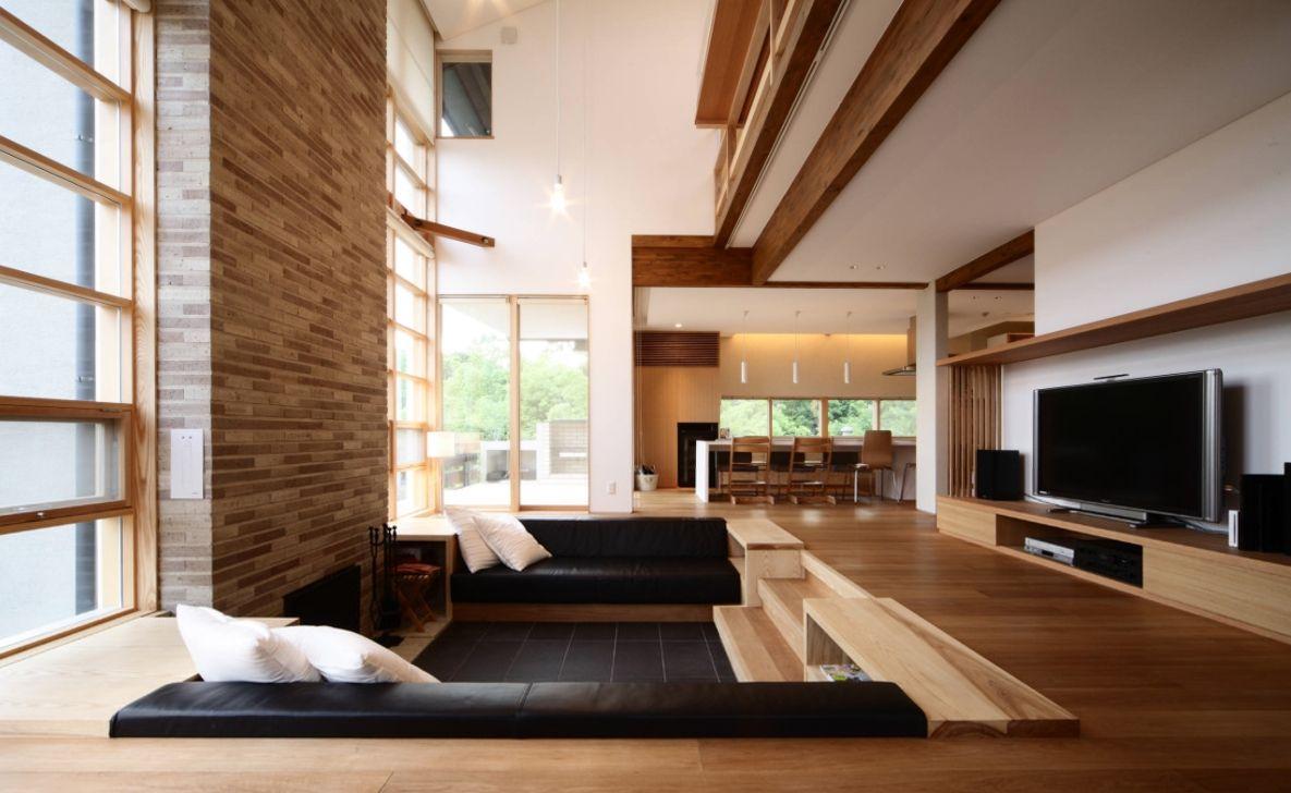 19 Best Sunken Living Room Design Ideas You D Wish To Own Sunken Living Room Stairs In Living Room Modern Rustic Living Room