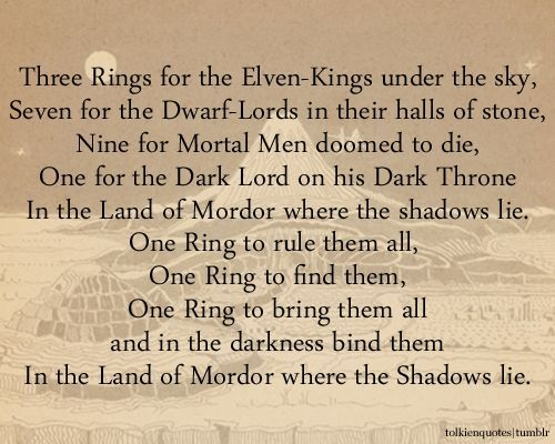 One Ring To Rule Them All Quote Page Number 10 Best Images About Tolkien S Wisdom On Pinterest The Journey Tolkien Quotes Tolkien Lord Of The Rings
