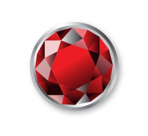 ImpressArt, Ruby, Czech Crystal Snap Rivets, Round, 50 pc