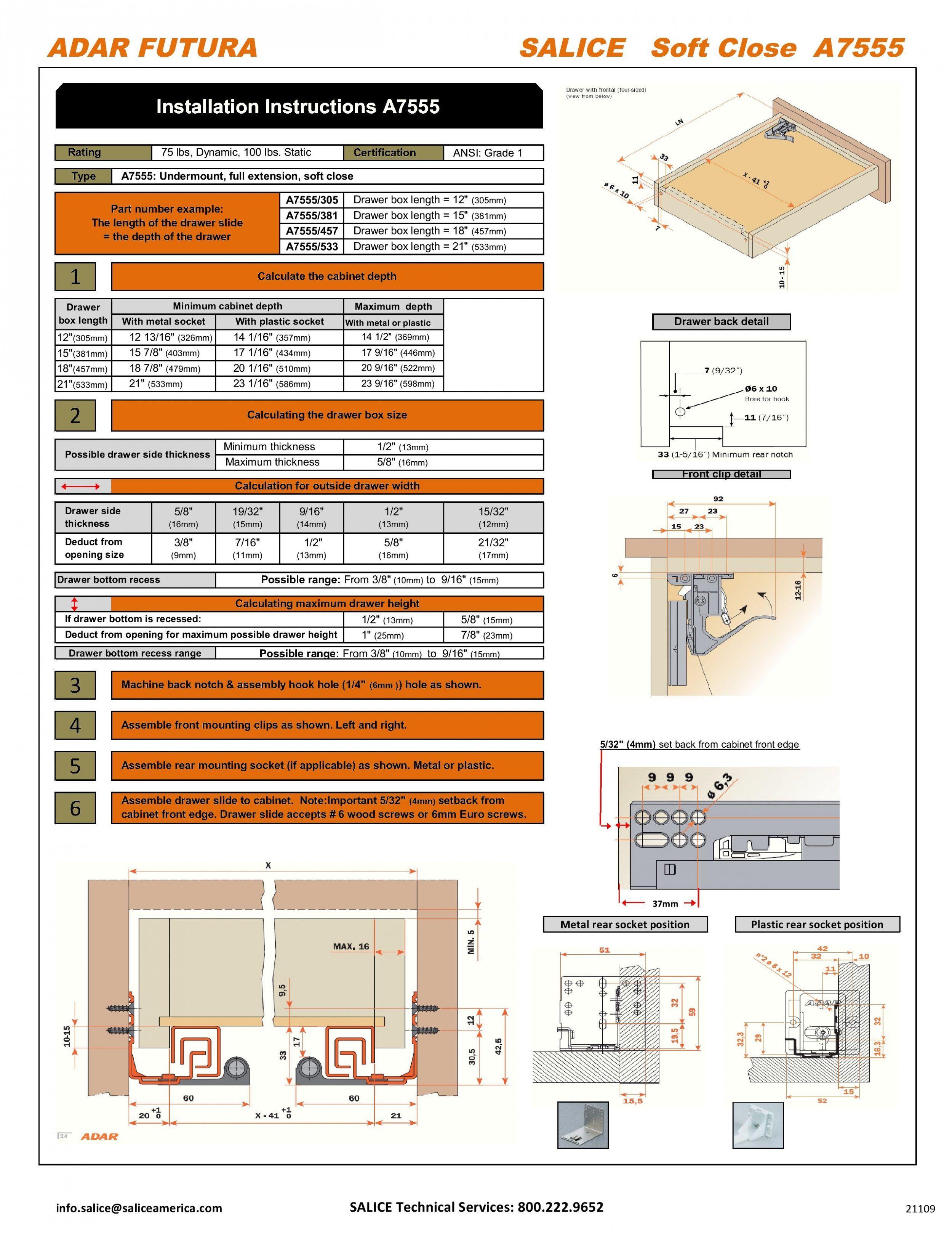 Blum Undermount Drawer Slides Specs Sickchickchic For Measurements