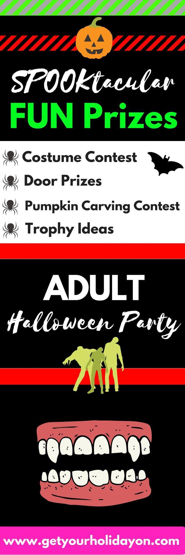 Adult Halloween Party Game Prizes | Pumpkin carving contest, Door ...