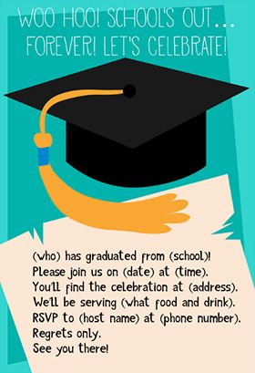 School Is Out Forever Printable Graduation Party Invitation Customize Add Text And Photos Print For Free