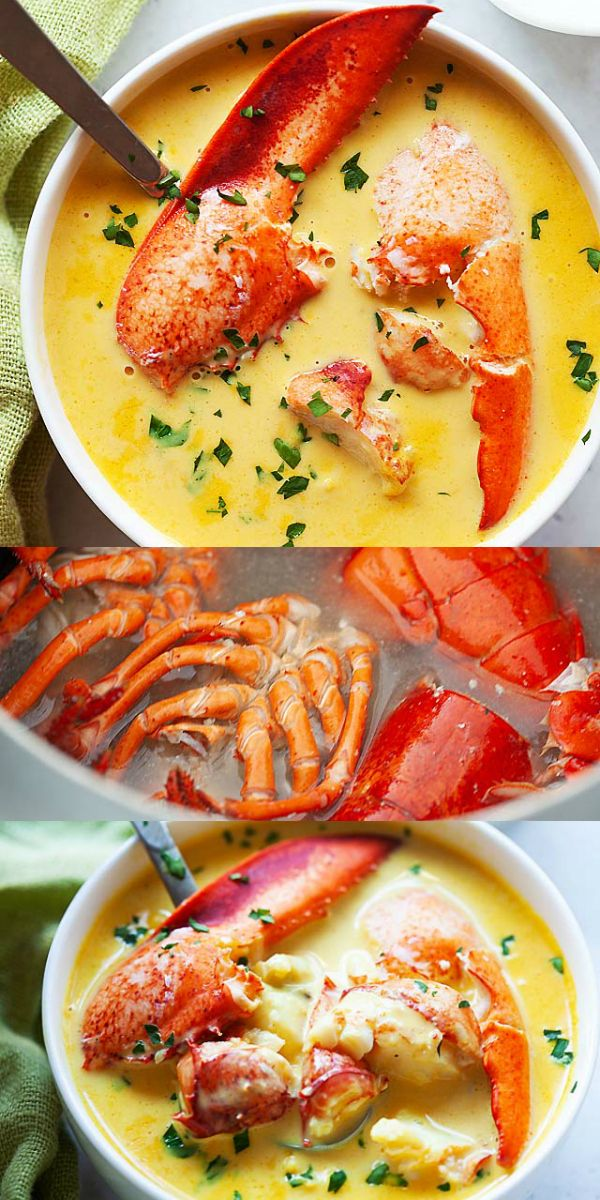Rich and creamy lobster bisque just like the best seafood restaurants. Learn how to make lobster bisque soup at home with this easy and fail-proof recipe, so good | rasamalaysia.com