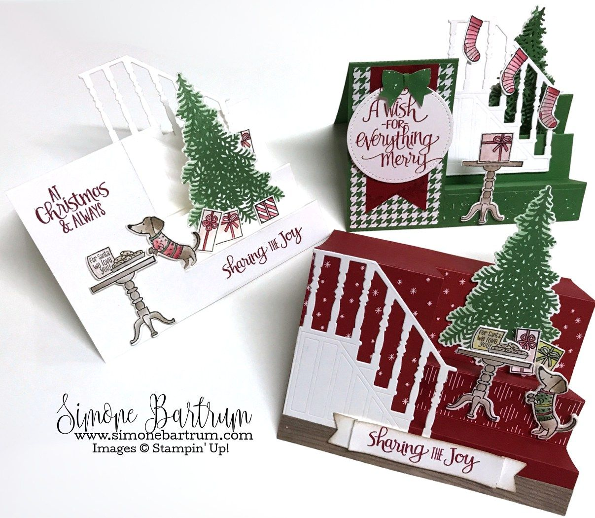Christmas Card Making Ideas Stampin Up Part - 41: Stampinu0027 Up! Ready For Christmas - Stair Step Staircase Cards