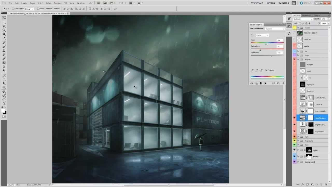 Shipyard Photoshop Breakdown by PixelFlakes