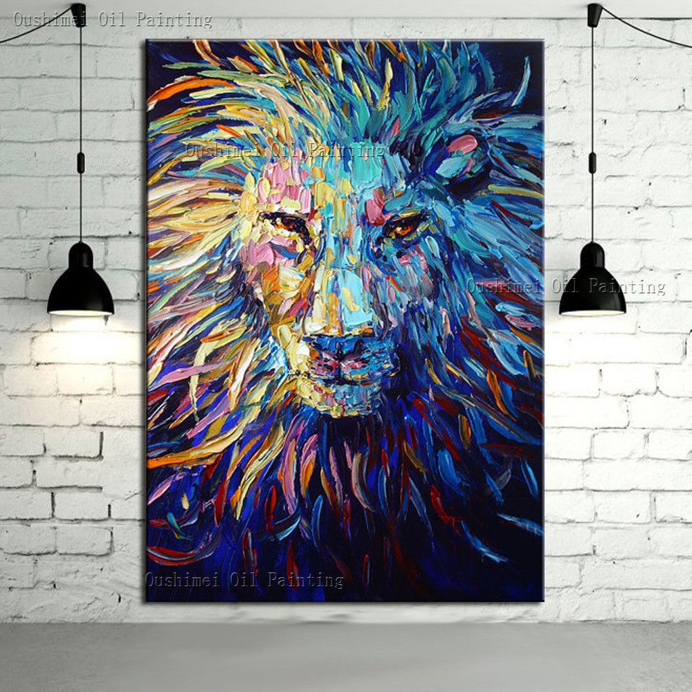 New Arrivals 10 Discount Use Coupon Code 082 030 550 To Avail Abstract Lion Oil Painting Abstract Canvas Art