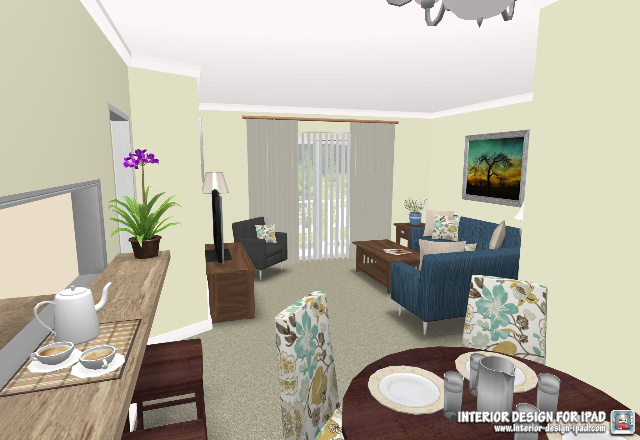 We Shared This Rendering Created With Interior Design For Ipad