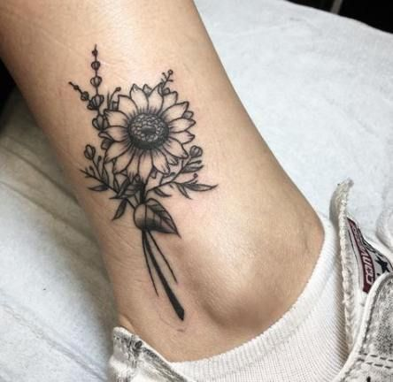 27+  ideas for tattoo sunflower blackwork