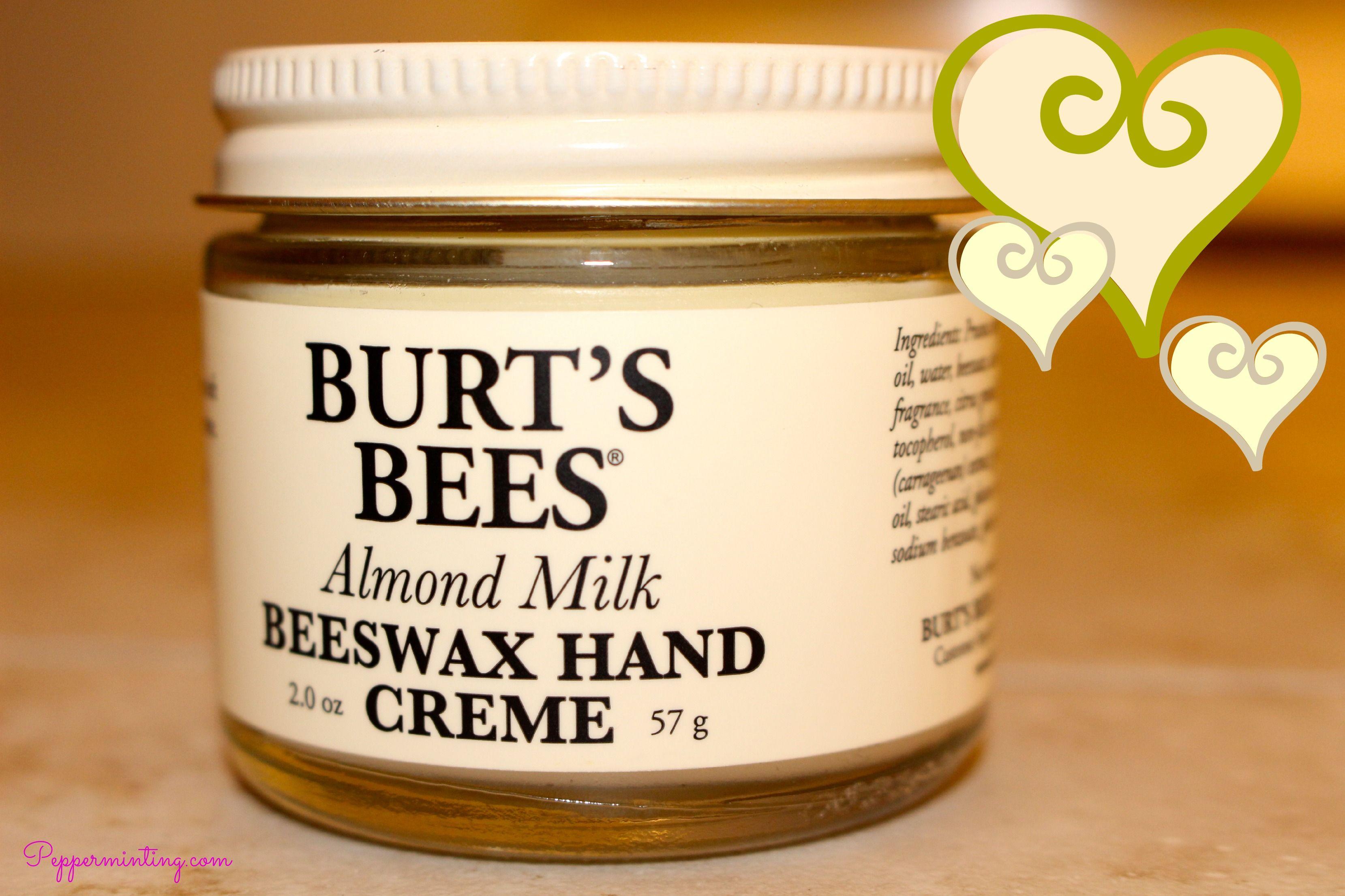 Burts bees almond milk beeswax hand creme diy lotion