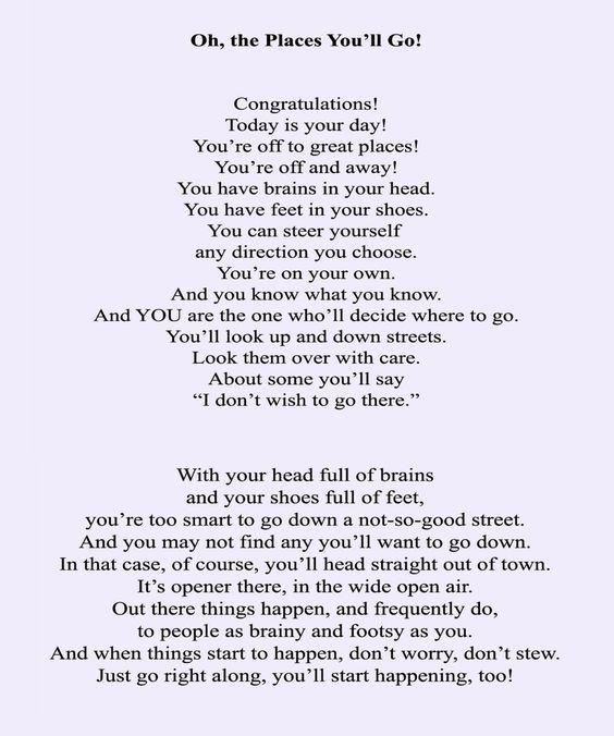 Love It Graduation Poem By Drseuss Drseussday Graduation