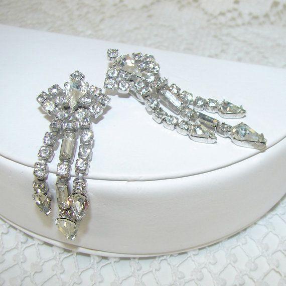 Rhinestone Jewelry Fur Clip Stole Clips Dress Small by OhFaro, $47.00