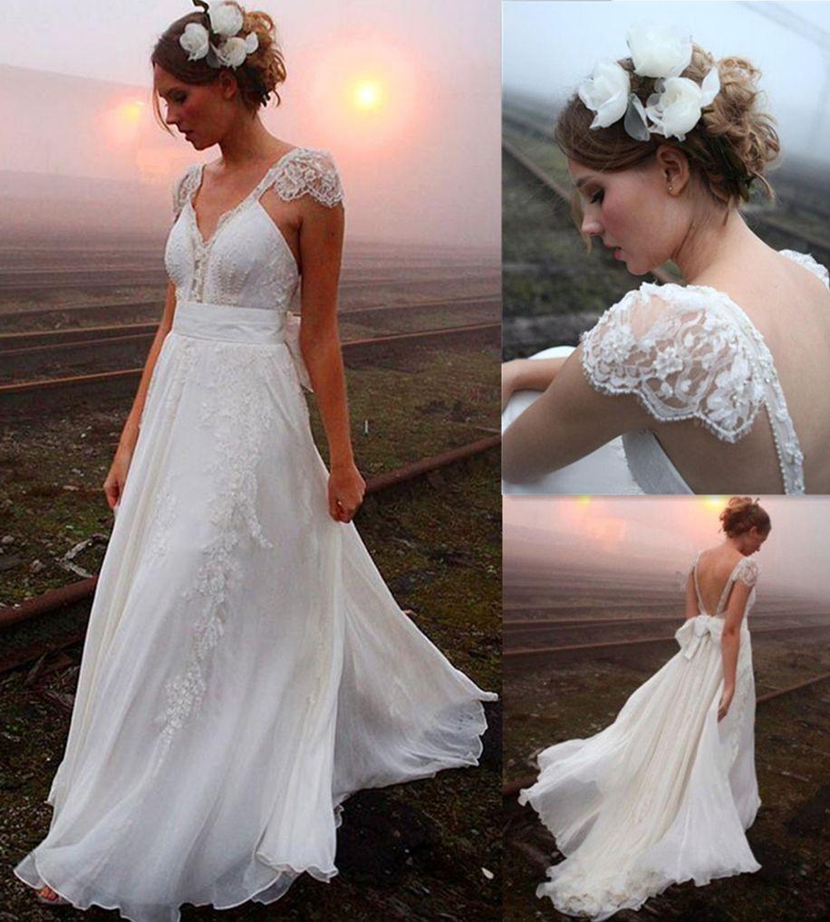 Aline wedding dresslace wedding dressvneck wedding dress