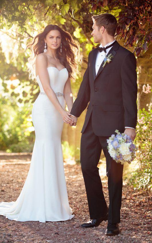 c6c0126f9574b Wedding Dress Inspiration - The Ultimate Bride St. Louis, MO - D2256 Comfortable  Strapless Wedding Dress by Essense of Australia