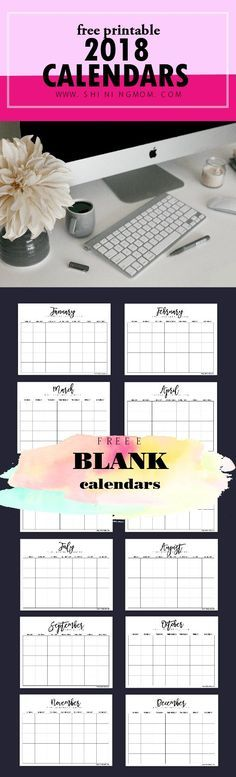 FREE Fully Editable 2018 Calendar Template in Word planner