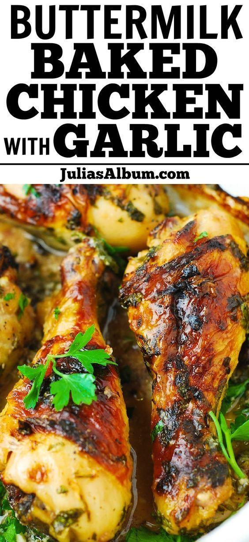 Buttermilk Roasted Chicken Easy Chicken Recipes Dinner Recipes Easy Quick Easy Chicken Dinner Recipes