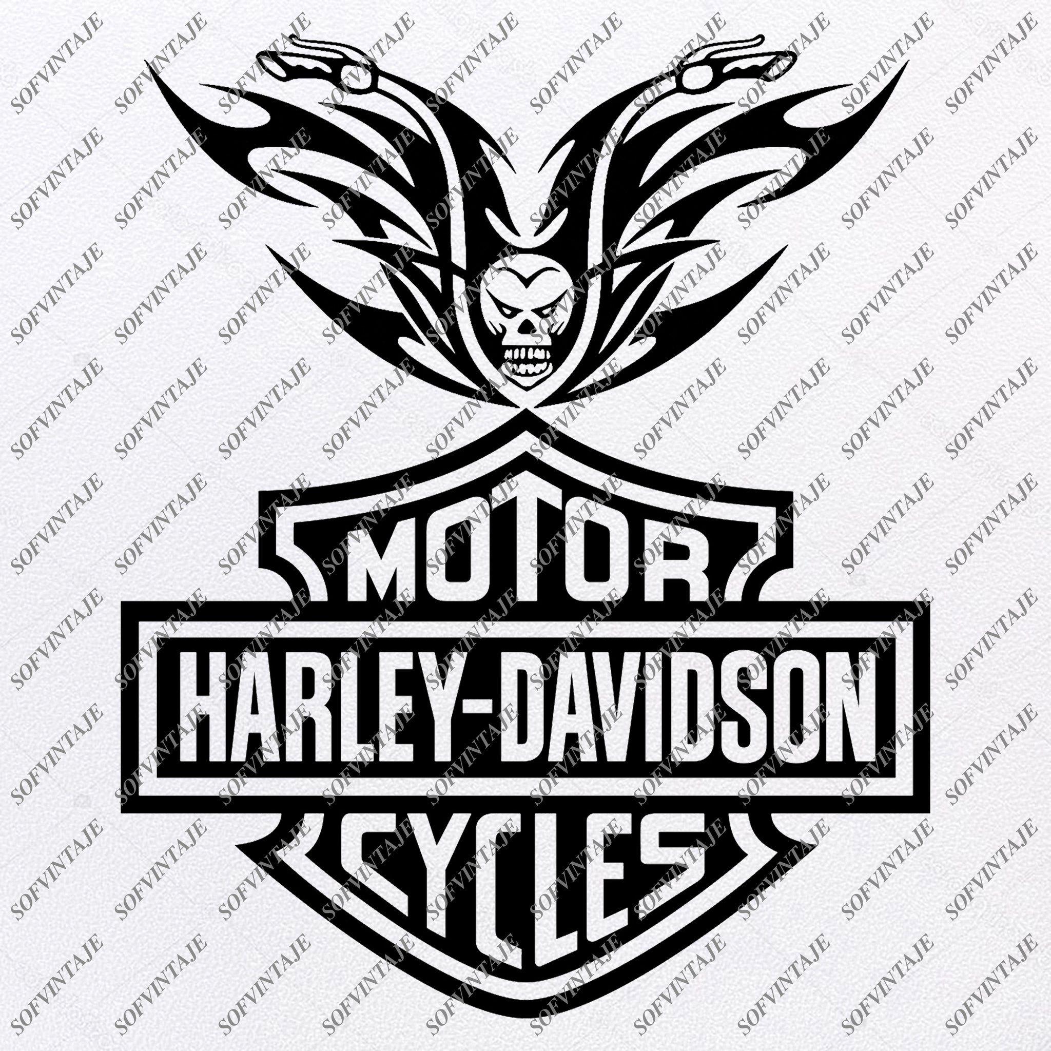 Harley Davidson Svg File Harley Davidson Svg Design Clipart Tattoo For Motorcycle Harley Davitson Png Vector Graphics Svg For Cricut For Silhouette Svg Eps In 2020 Silhouette Svg Svg Design Harley Davidson