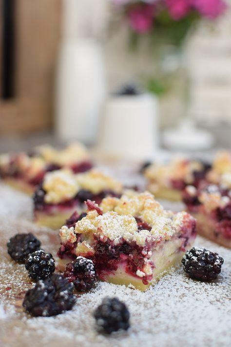 Brombeer Streuselkuchen - Blackberry Crumble Cake #brombeerenrezepte