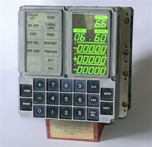 Photo of Dsky (display keyboard apollo guidance computer (agc) from lm-5 – model art craft kit 1:1