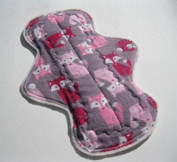 Postpartum Menstrual incontinence Foxy Flannel Top Pad