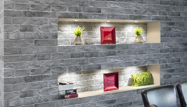 leeroc pav s briques et pierres pierre d corative rinox mur d 39 int rieur moderne et simple. Black Bedroom Furniture Sets. Home Design Ideas